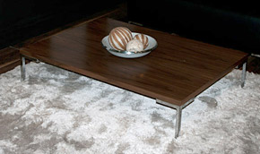 coffee table with chrome legs