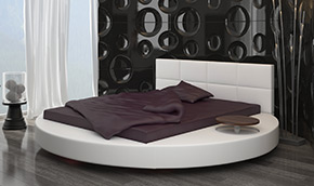 round turno bed for the mattresses 160x200, 140x200 or 180x200