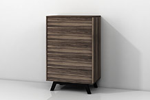 Vertical parlor chest of drawers