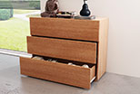 Vertical Chest of drawers with  Tip-on opening system