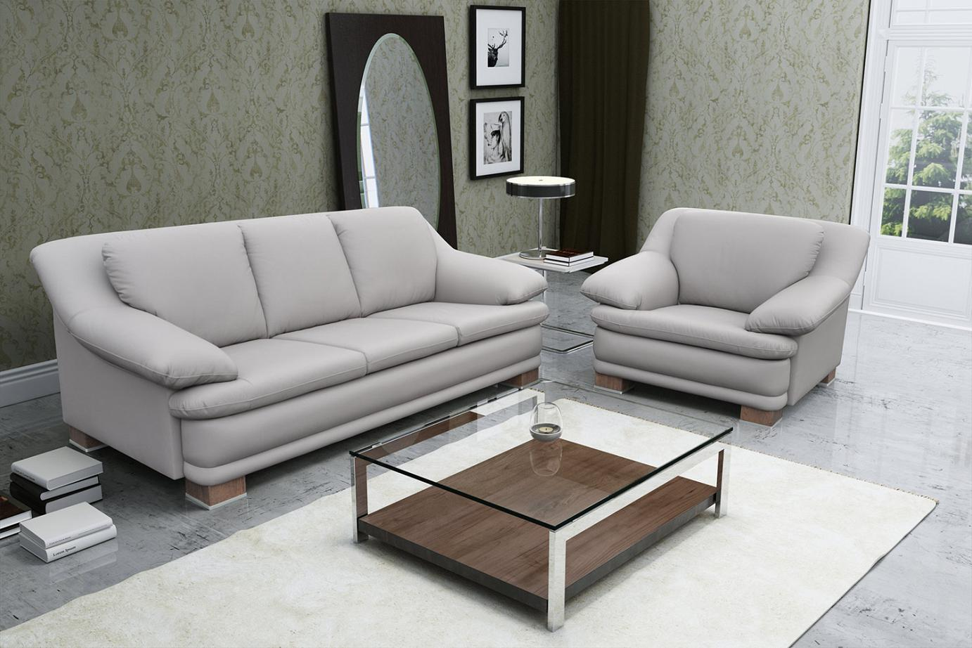 stylish furniture Almiro: Sofa 205 cm with armchair
