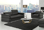 Exclusive, modern sofa, chair and ottoman
