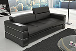 Sofa 240 cm with chrome elements