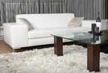 Milo sofa in white natural leather