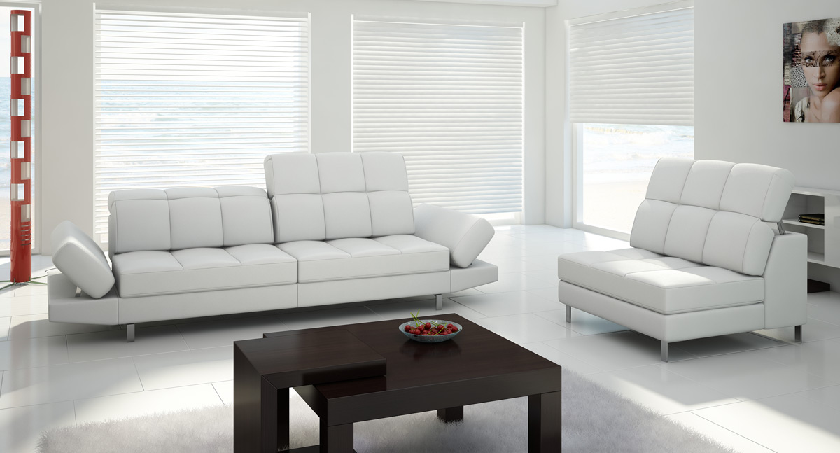 modern sofa into the room
