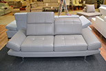 Leather sofa Lorena