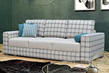 Sofa Veleno 230 cm in plaid fabric