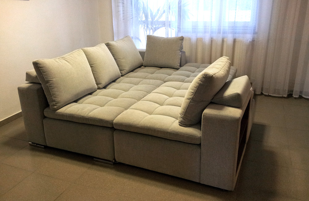 Comfort A Corner Sofa With A Bookcase - Sofa bed for everyday sleeping