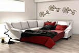 Stylish sofa bed corner