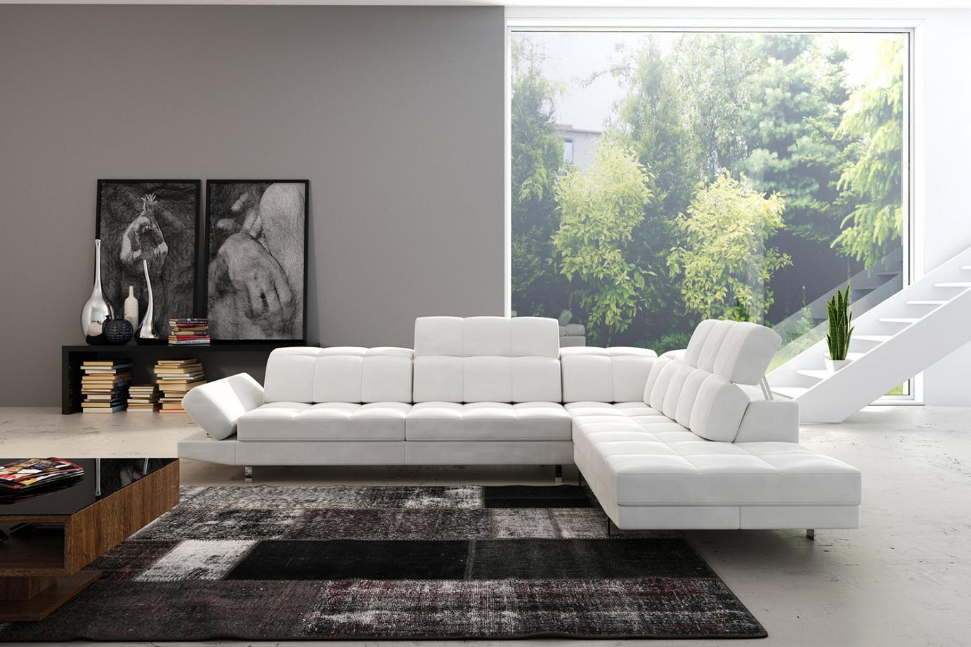 lorena italian corner sofa set exclusive quilting. Black Bedroom Furniture Sets. Home Design Ideas