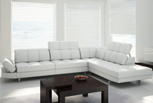 custom-sized white corner sofa 285 x 226 cm