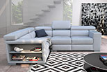 The exclusive and convenient corner sofa Makalu 252 x 187 cm