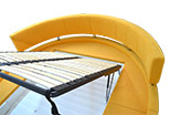 Circus bed in yellow, washable fabric