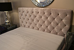 Quilted headboard Chesterfield