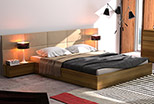 Exclusive Livorno bed with upholstered headboard