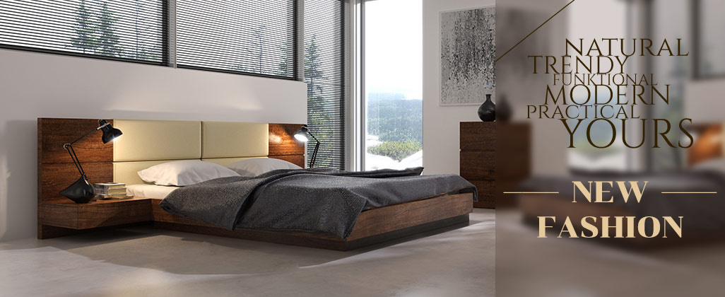 New fashion - modern bed with bedding container