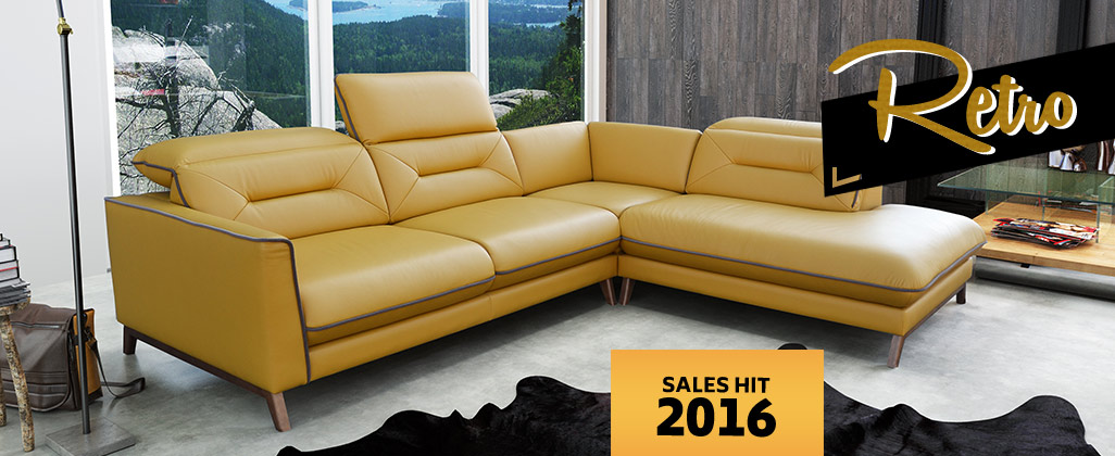 stylized corner sofa - sales hit 2016